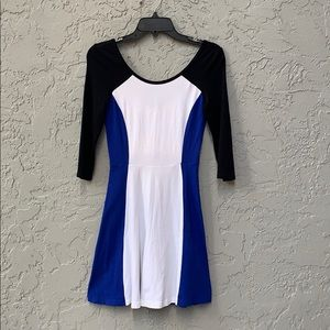 Express XS color block dress